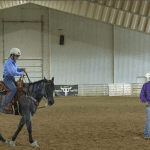 Online Extra, Julie working with roping horse