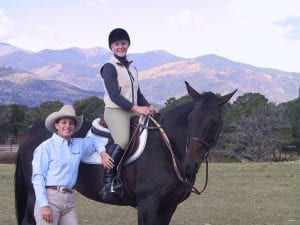 Julie with a riding student